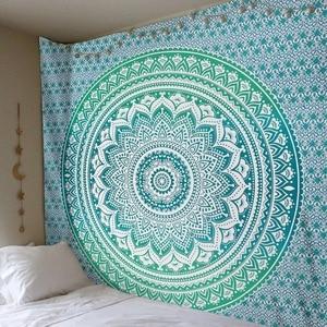 Image 4 - CAMMITEVER Large Mandala Indian Tapestry Wall Hanging Bohemian Beach Towel Polyester Thin Blanket Yoga Shawl Mat 210x150cm