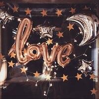 40 inch nhôm balloon Valentine Day Thư TÌNH YÊU Phòng Cưới Hôn Nhân Birthday Party Decor Miễn Phí vận chuyển