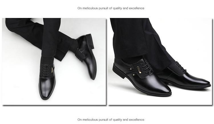 NPEZKGC Men Dress Shoes Slip-on Black Oxford Shoes For Men Flats Leather Fashion Men Shoes Breathable Comfortable Zapatos Hombre 5