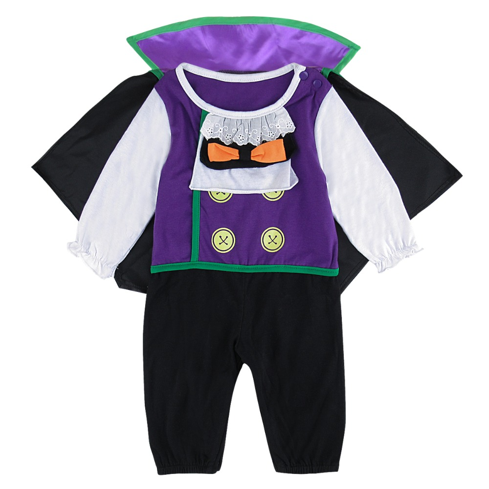 Baby Boys Vampire Costumes   Romper   Infant Long Sleeve Carnival Jumpsuit With Cloak Cosplay Halloween Outfit Newborn Bebe Playsuit