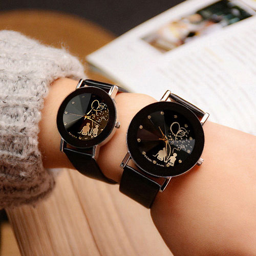 YAZOLE Lovers Quartz Watch Women Men Brand Famous Wrist Watch Female Male Clock Ladies Watches For Woman Man 1 Pair=2 Pieces