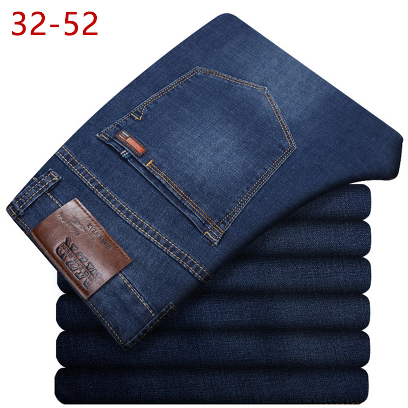 Plus Size 32-52 Men Classic Straight Baggy Jeans New Summer Male Thin Casual Regular Fit Denim Pants Big Size Overalls For Mens