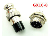 Gratis Pengiriman 5 Pair GX16-8 8Pin 16mm Pria & Wanita Butt Connector bersama kit GX16 Socket + Plug, RS765 Aviation pasang antarmuka(China)