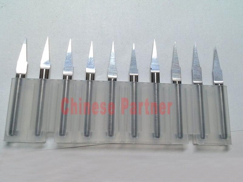 10 Pcs D3.175x30x1mm 30 Degree V Shape Flat Bottom Carbide  Engraving Milling Cutters Spiral Bit  CNC  Router Bits Tools