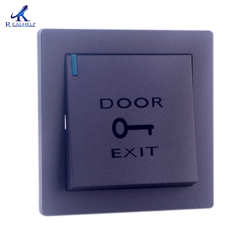 Mounted Exit Button With Bottom Box For Rfid Reader Card Open Door Access Switch Suitable For All Kinds Of Electric Lock Security & Protection