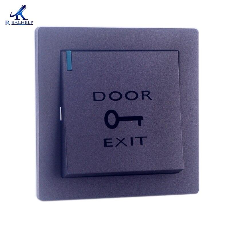Biometric Door Access Control Exit Button Door Open Button Cheap Exit Button Door Opener Plastic Door Release Open Switch