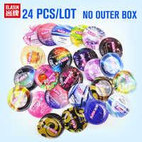 ELASUN 24 pz/lotto Preservativi in lattice naturale 8 stile filo praticles punto di G Ultra sottile preservativi per gli uomini giocattoli del sesso del pene manica per adulti