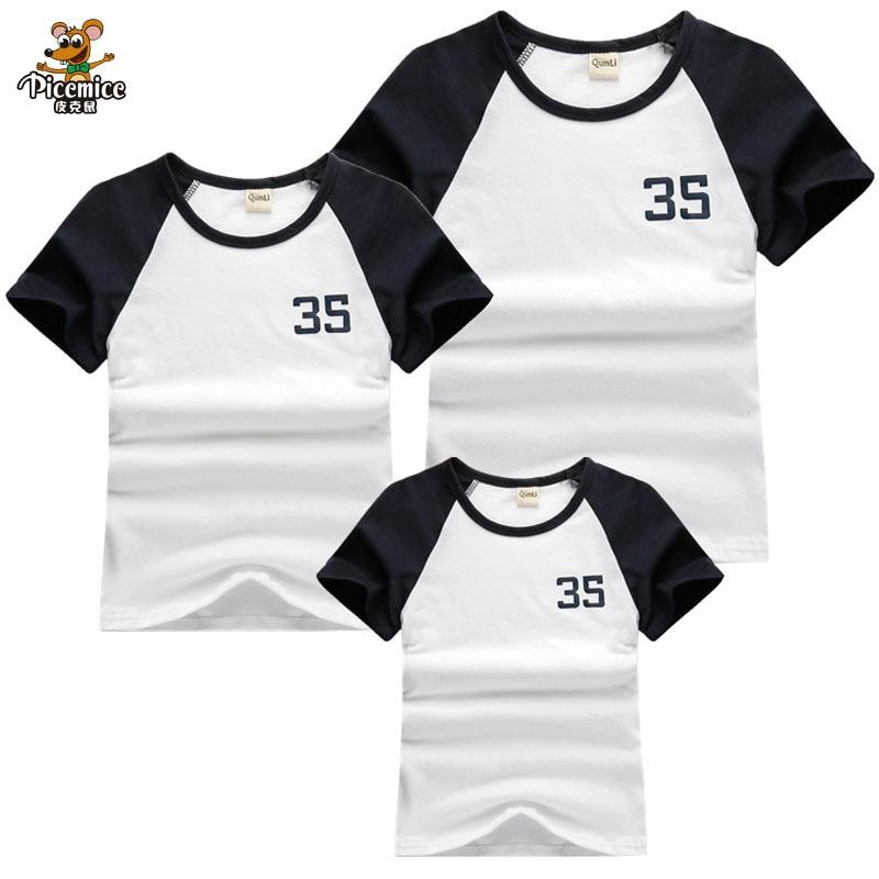 Mutter & Kinder Mode Familie Passender Kleidung Sets Brief Gedruckt Passende Shirt Top Grafik Tees