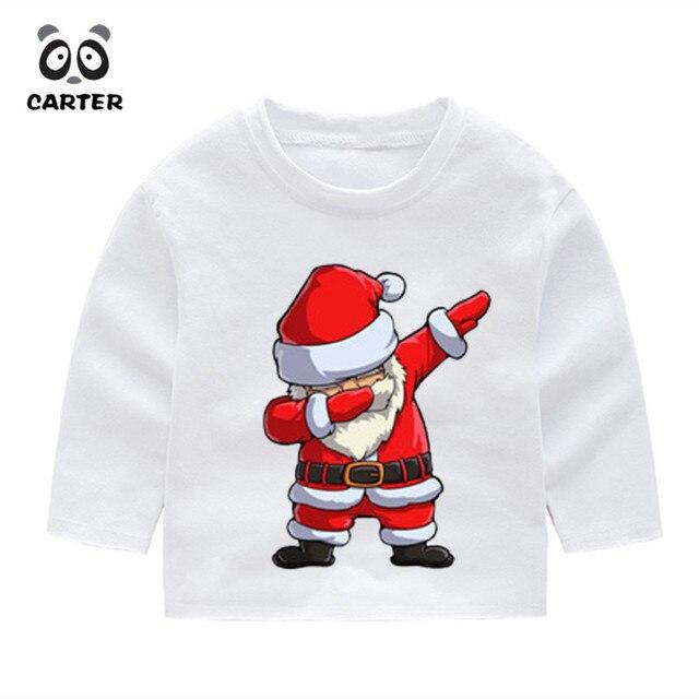 cfbaa2d77 Kid's Dabbing Santa Claus Pattern Funny Long Sleeve T Shirt Children's  Christmas Tops Boys Girls Kawaii Tees Baby Toddler Gift