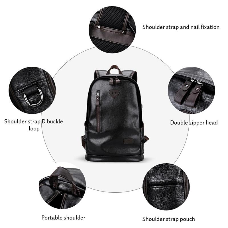 LIELANG bookbags backpack for laptop Leather mens leather bag Waterproof backpack capacity Men Bag School Bags mochila in Backpacks from Luggage Bags