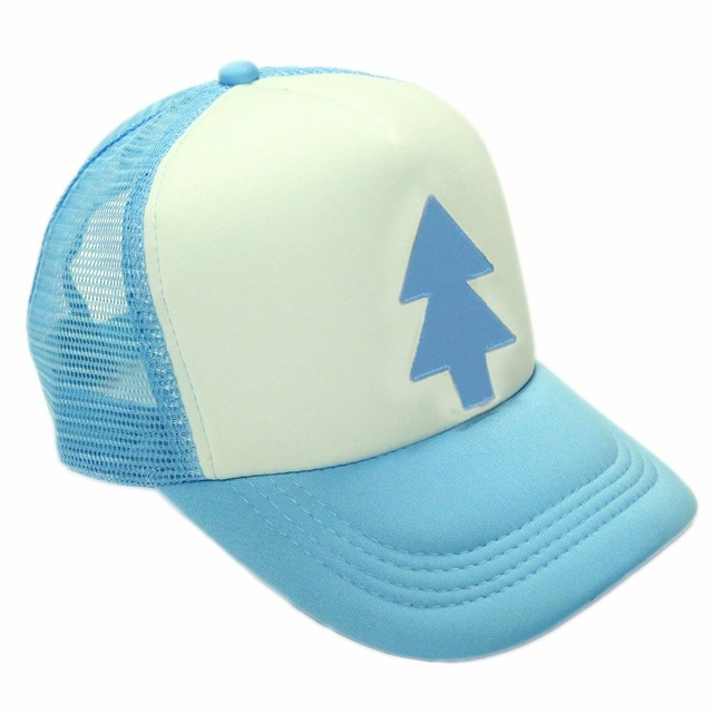 Dipper Pines Hat Gravity Falls Cosplay Costume Props Embroidered Mesh Baseball Adjustable Tree Cap Accessories XCOSER