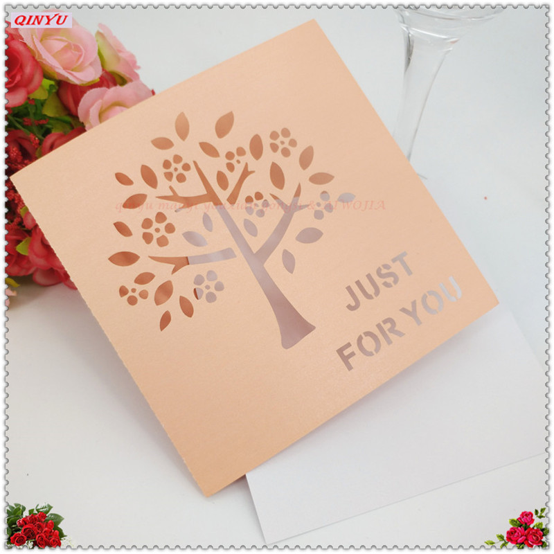 Wedding Gift Thank You Cards: 50pcs/lot Blessing Card Memory Postcard Wedding Gift Cards