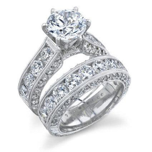 Ship From US White Gold Plated Wedding Rings For Women High Quality Classic Jewelry Free Shipping