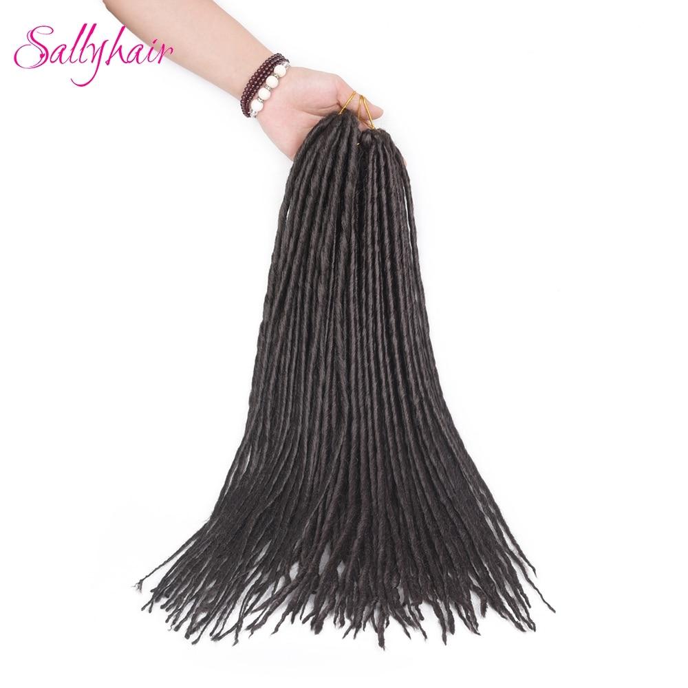 Sallyhair 1 Pack 12strands Dreadlocks 20inch Synthetic Braiding Hair Extensions Crochet  ...