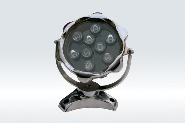 9*1WLED Underwater Light;DMX512 compatible;DC12V input;IP68;Stainless steel housing;please advise the color you need
