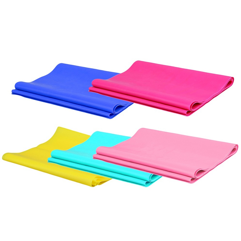 Super Exercise Band 7 Ft Long Latex Free Resistance Bands Elastic Yoga Pilates Rubber Stretch Exercise Band Arm Back Leg Fitness Fitness Equipments