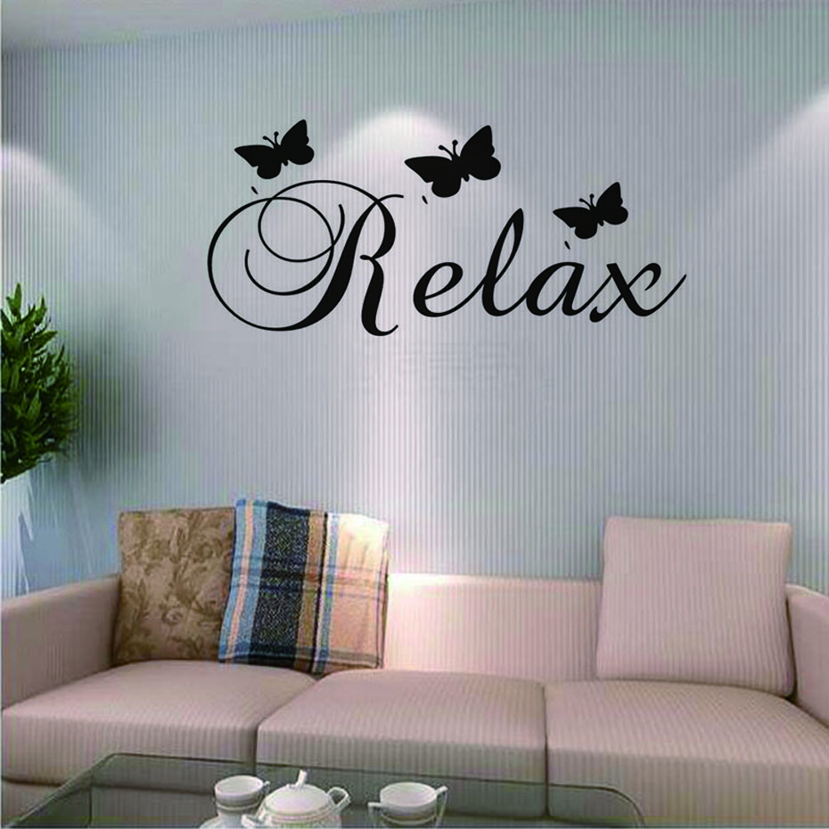 Us 1 23 44 Off Relax Wall Stickers Beautiful Erfly Sticker Removable Pvc Decals Nursery Art Wallpaper For Kids Room Home Decor In