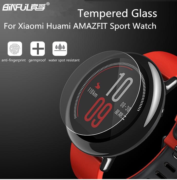 Νέα άφιξη Premium HD 9H 2.5D 0,3 mm Tempered Glass για Xiaomi Huami Amazfit Screen Protector Film With Retail Package