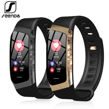 SeenDa E18 スマート腕時計スポーツメンズ腕時計フィットネストラッカースマート時計の Android と IOS 電話 Bluetooth の女性のスマートウォッチ