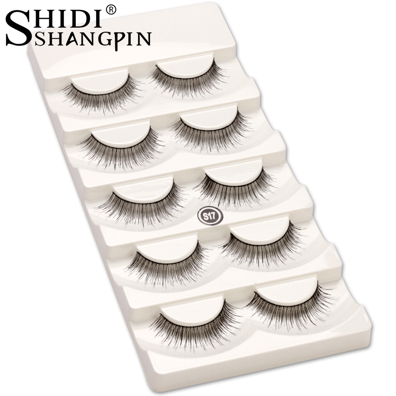 5 pairs Fake Eyelashes Hair Eye Lashes Makeup Natural False eyelashes Long Soft Eyelash Extension Fake Lash Make Up Tools SI7
