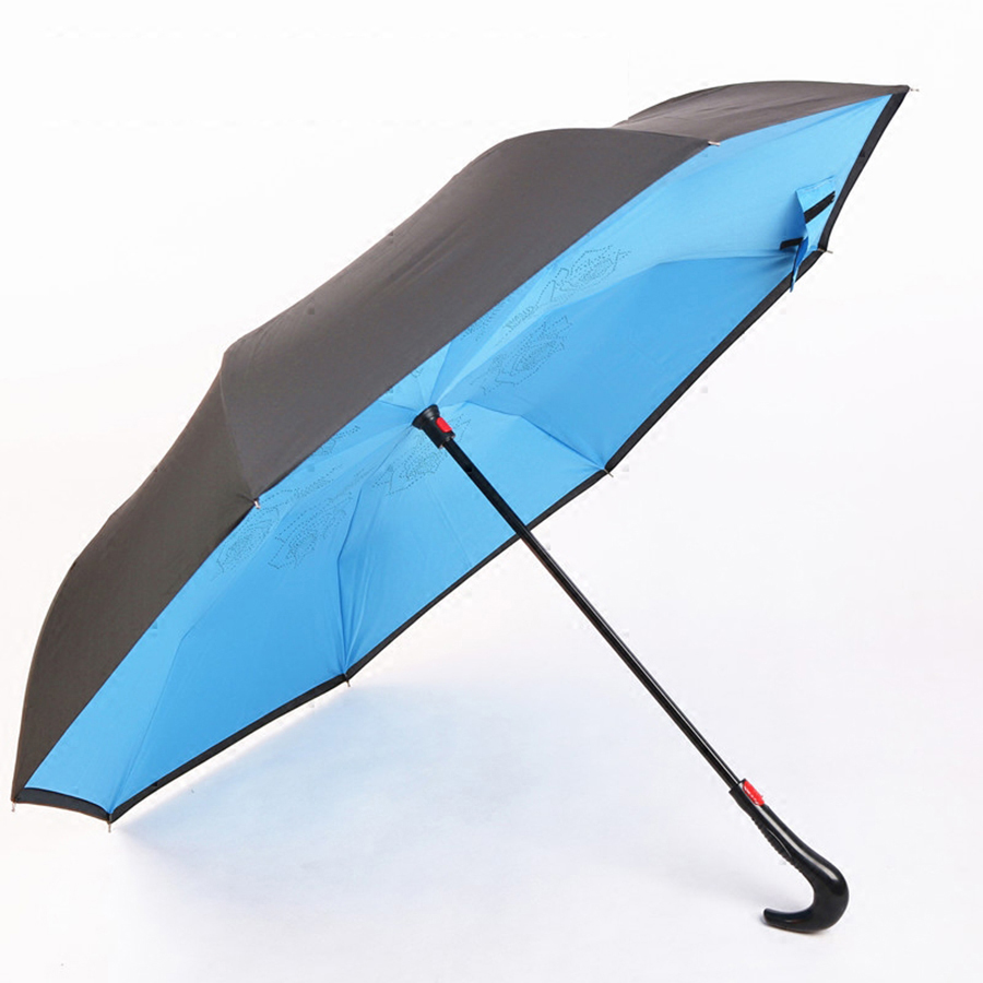 Automatic Reverse Umbrella Folding Windproof Paradise Umbrella Fordable Flower Wedding Lace Parasol Zont Golf Umbrellas 40D0262
