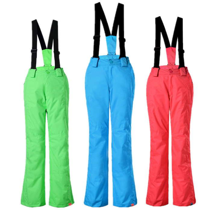 ФОТО 2016 New  Good quality Gsou snow children skiing pants suspenders waterproof windproof children thermal thickening winter