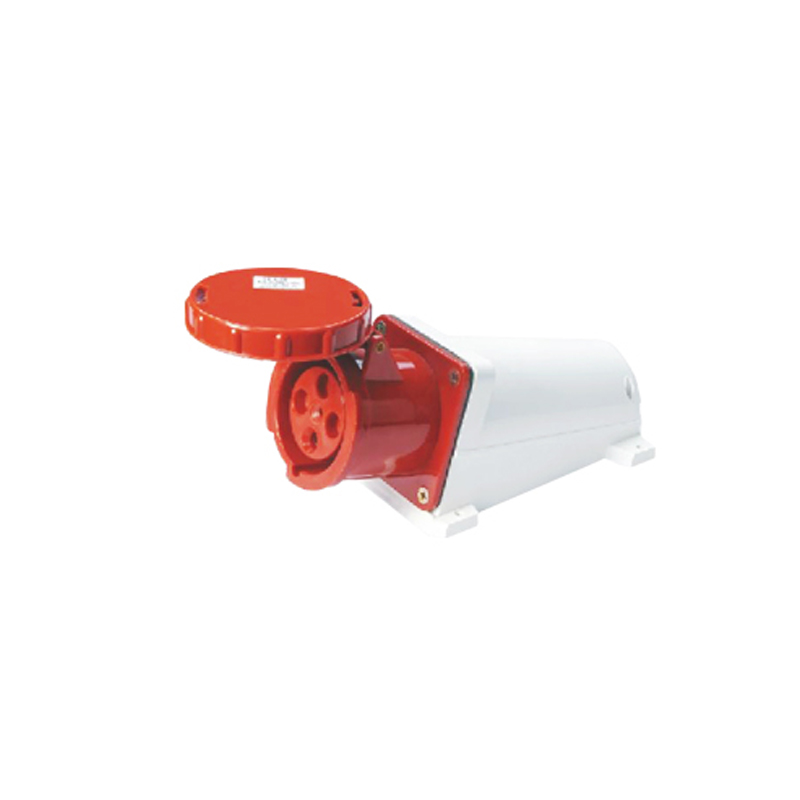 125A 4Pin industrial socket connector SF-144 surface mounted socket cable connector 380-415V~3P+E waterproof IP67 ac 380 415v 16a red white waterproof 3p e iec309 2 socket for industrial