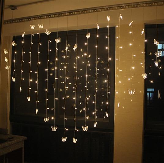 Lights Flashing LED Heart Shaped String Lamp Wedding Room