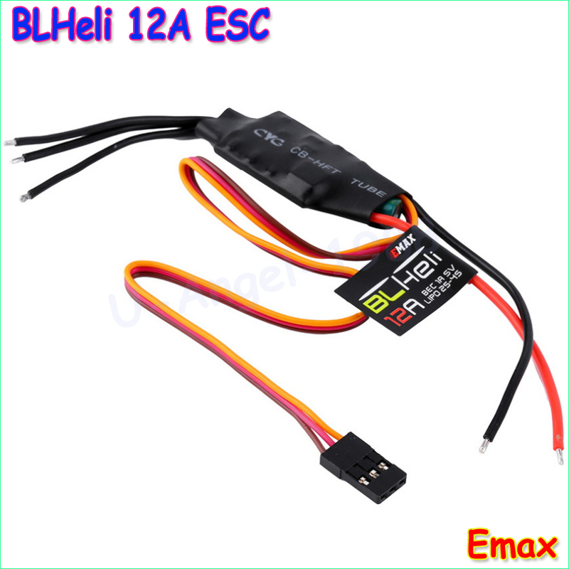 1pcs emax 12a blheli esc 1a 5v speed controller for fpv qav250 280 270 quadcopter fpv multicopter