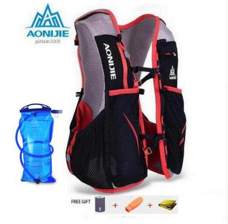 AONIJIE 5L Women Men Marathon Hydration Vest Pack For 1.5L Water Bag Cycling Hiking Bag Outdoor Sport Running Backpack aonijie men women outdoor sports lightweight running 8l backpack marathon cycling hiking bag with 1 5l hydration water bag