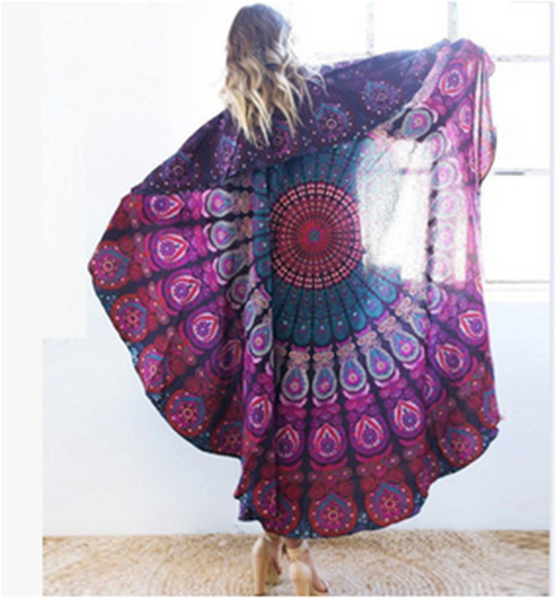 Image 3 - Psychedelic Mandala Hippie Bohemian Tapestries Wall Hanging Flower Psychedelic Tapestry Indian Dorm Decor for Living Room-in Tapestry from Home & Garden