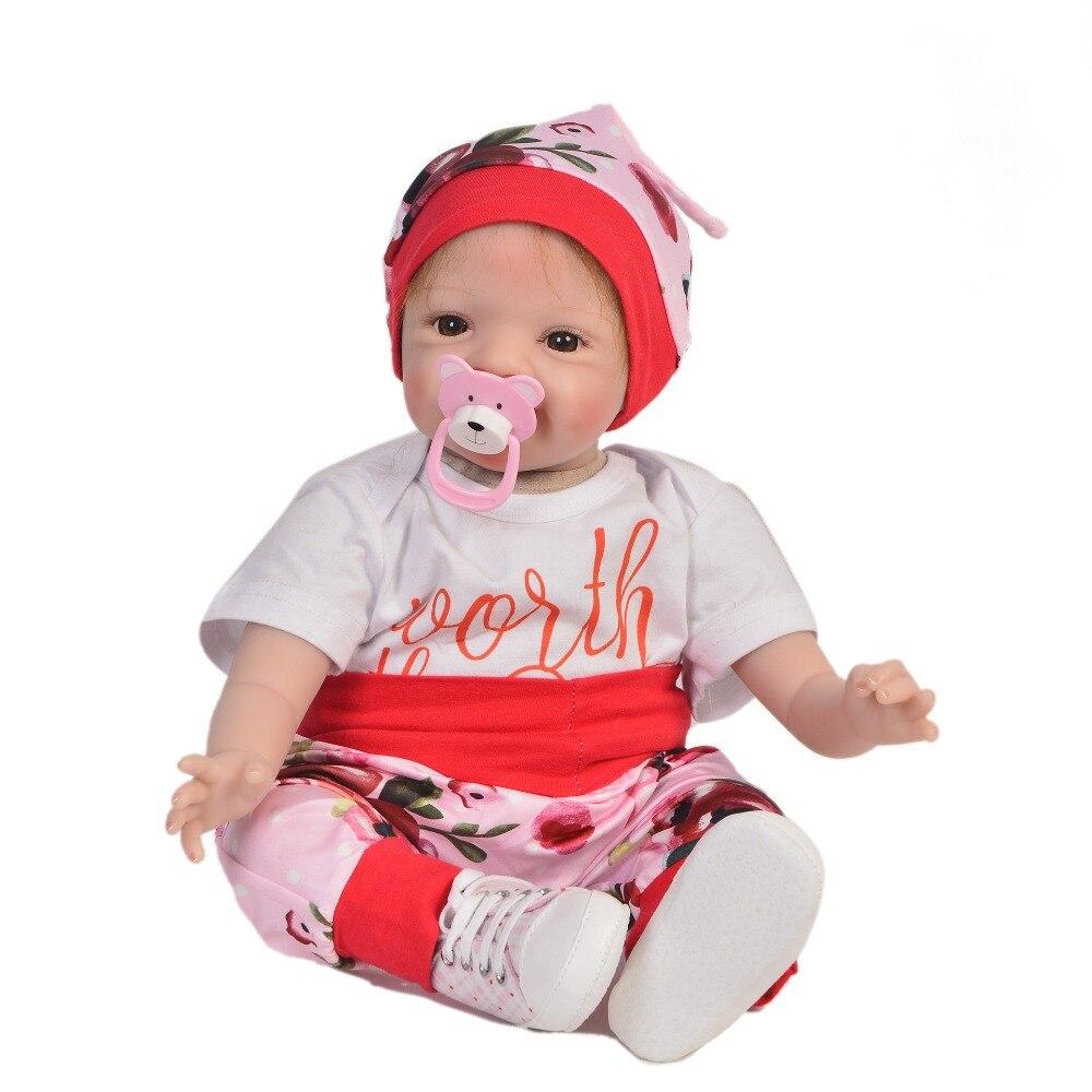 Reborn poupée PP coton corps 55 cm Silicone Reborn bébé poupées réaliste 22 pouces nouveaux arrivants Juguetes bébés jouets cadeaux d'anniversaire
