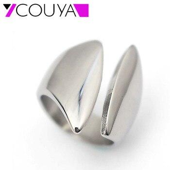 Gran oferta de anillos de plata para mujer hechos de acero inoxidable a la moda y elegantes envío gratis