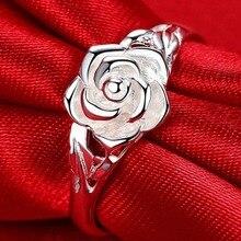 Новое модное кольцо в виде цветка розы для женщин, креативные вечерние кольца в виде цветка для свадьбы, помолвки, ювелирное изделие, подарок