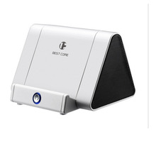 Wireless Inductive Stereo Audio Subwoofer Speakers for Apple/Android Phone Non-bluetooth Speaker with Phone Holder Loudspeaker