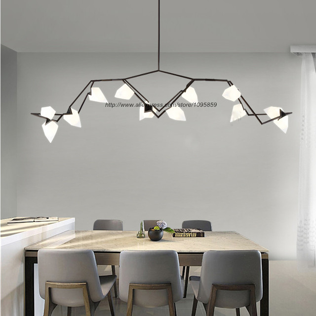 Modern Chandelier Lamp For Living Room Contemporary Gold Black Fixture Peach Gl Lampshade Led Light