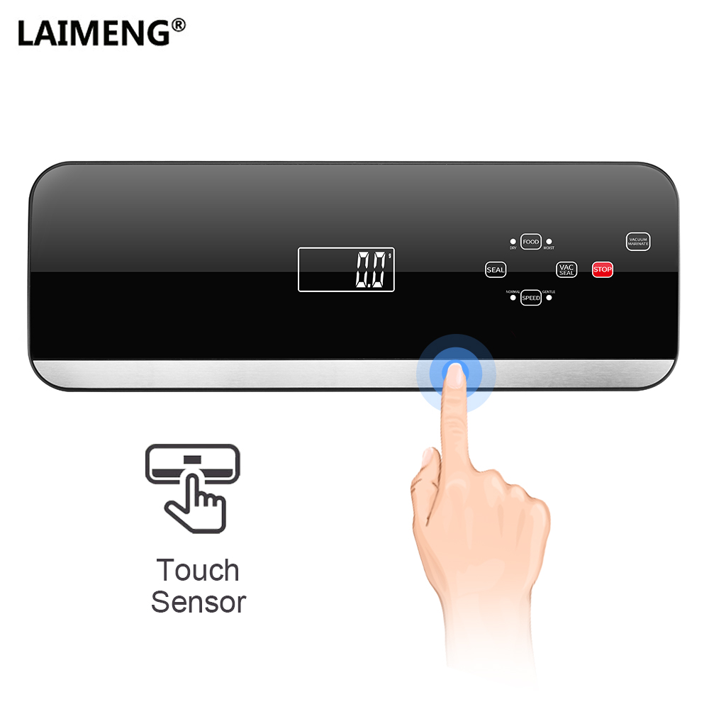 LAIMENG Automatic Vacuum Sealer Packing Machine With Vacuum Bags Roll Food Packaging Vacuum Packer Sous Vide For Kitchen S215