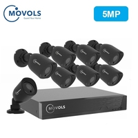 MOVOLS 5MP CCTV камера система безопасности комплект 5mp HD камера Открытый ИК для камеры наблюдения система наблюдения 8ch комплект для видеонаблюде