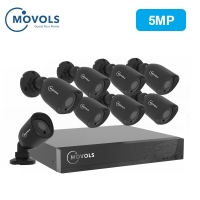 MOVOLS 5MP CCTV Camera Security System Kit 5mp HD Camera Outdoor IR Security Camera Video Surveillance System 8ch DVR set