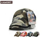 Jamont mode camouflage vizieren baret cap katoen hoeden voor mannen en vrouwen zonnehoed planas platte caps unisex verstelbare baretten