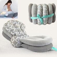 Oreiller dallaitement multifonction pour bébés, coussin dallaitement de maternité, pour nouveau né, à hauteur réglable, en coton, livraison directe