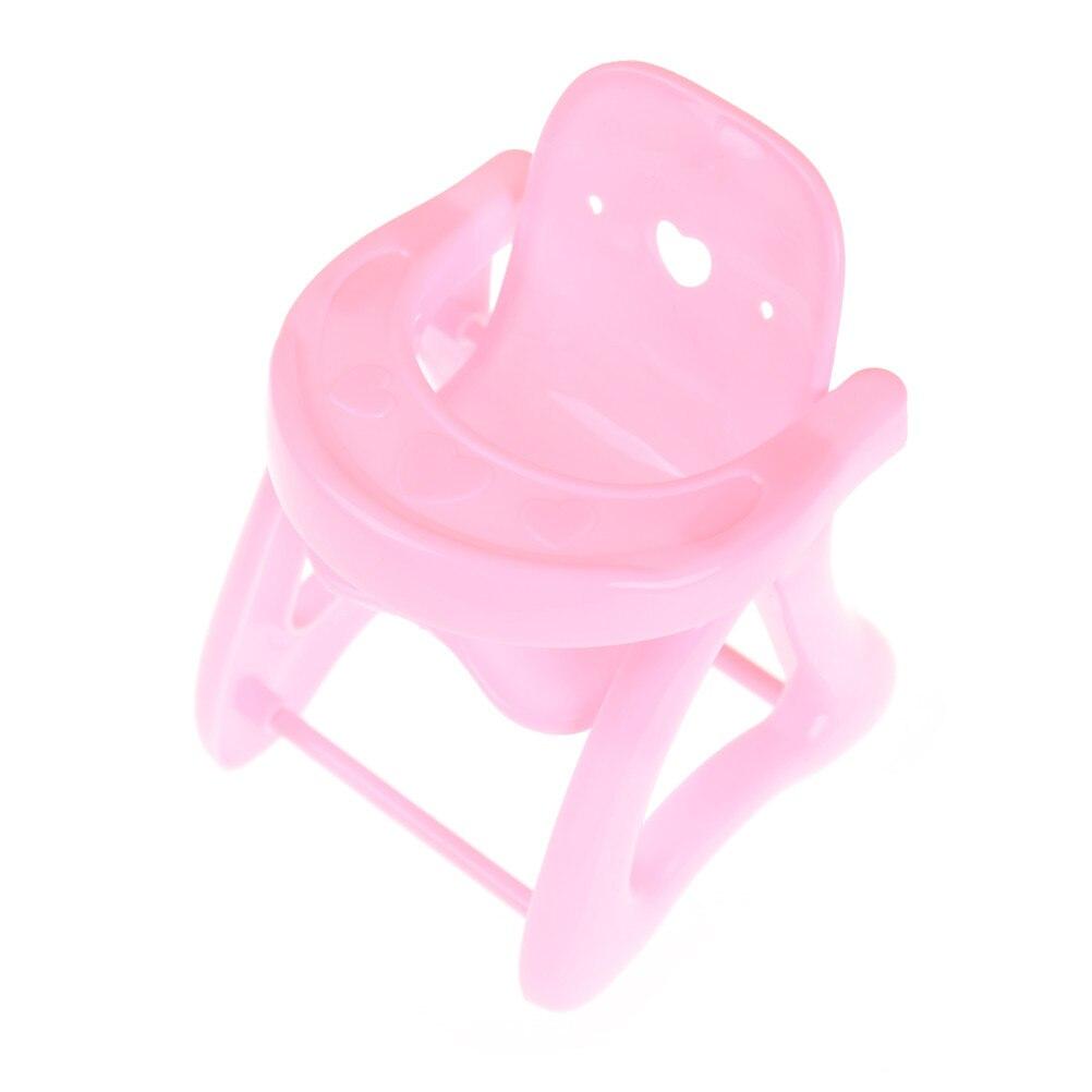 1 Stks Leuke Roze Eetkamerstoel Voor Kylie Pop Eetkamerstoel Speelgoed Voor Kids Gift Babypoppen Accessoires 9*9*12 Cm Kortingen Sale
