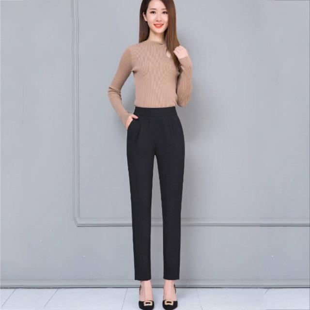Women Fashion Trouser with  Elastic Waist