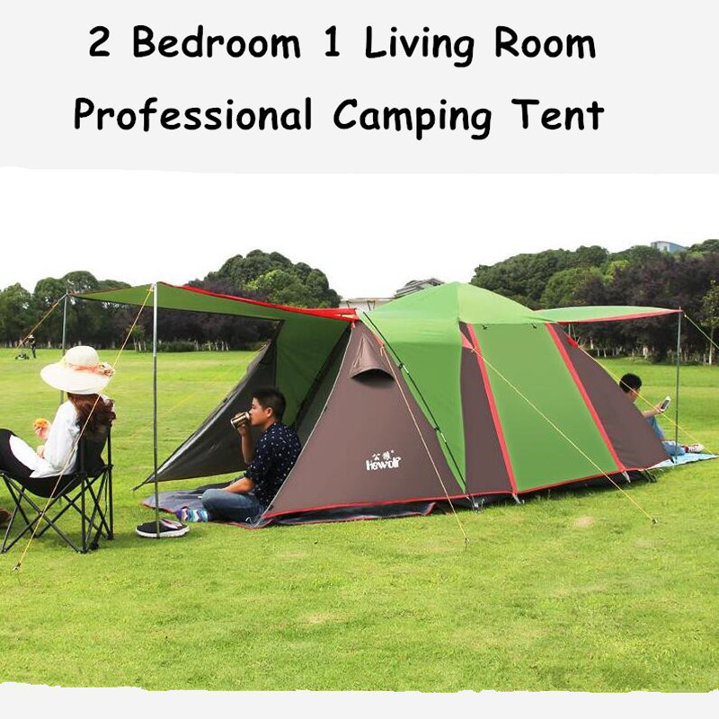 430*220*165cm Double Layer Camping Tents Waterproof 5-8 Person Fishing Climbing Tents Family Party Tents UV-Anti Automatic Tent large camping tent 4 5 person gazebo double layer waterproof tourist tent outdoor awning tents camping family picnic party tents