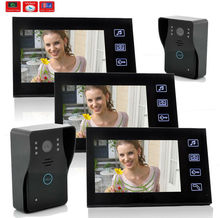 YobangSecurity 7 Inches Wired Rainproof Video Door Phone Doorbell Door Chime with Video Recording and PhotoTaking Function