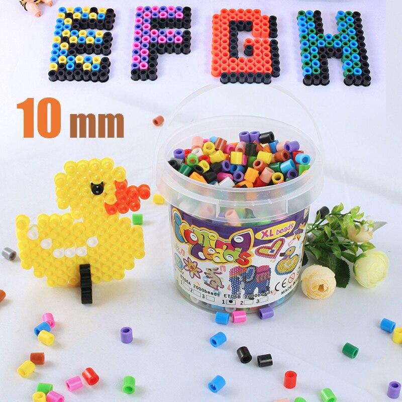 Mixte couleur 10mm 2000 pcs en bouteille écologique bricolage hama perler 3D melty fer Jouets pour artisanat enfants artisanat perles Cadeau livraison gratuite - 2