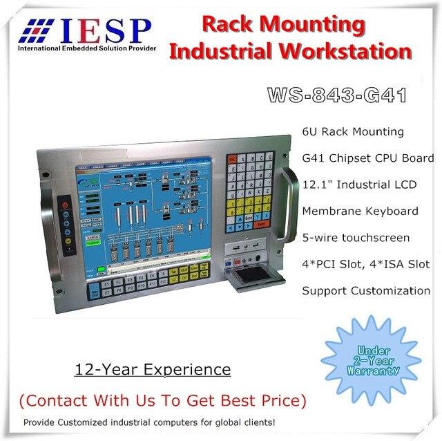 Промышленная рабочая станция 6U, 19 дюймов, E5300 (2M кэш, 2,60 ГГц), 4 Гб памяти, 500 Гб HDD, 4xPCI,4xISA