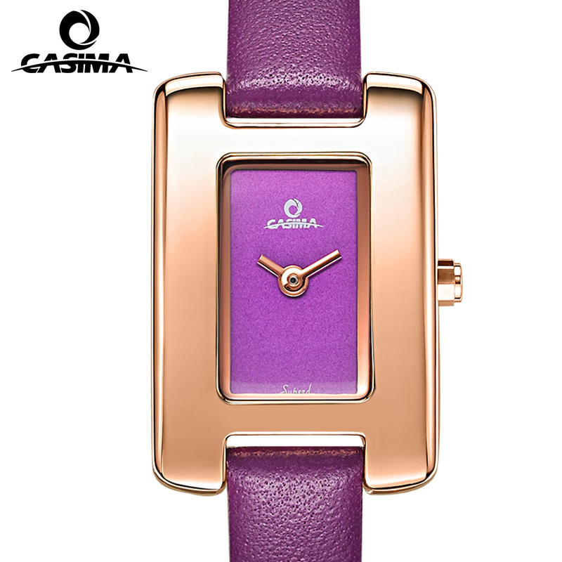 Relogio Feminino CASIMA Luxury Brand Women Gold Watch Fashion Casual Ladies Quartz Wrist Watch Waterproof Leather Clock Saat vansvar brand fashion casual relogio feminino vintage leather women quartz wrist watch gift clock drop shipping 1903