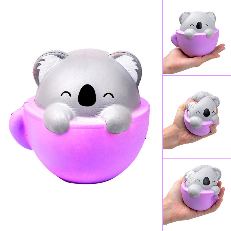 Teacup koala Shape Decompression Venting Toy Slow Rebound Simulation Animal Toy squishies quash antistress games anti-stress F1