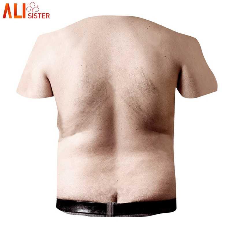 Alisister Hariy грудь Мужская 3D футболка для женщин Забавный принт короткий рукав футболки EUR Размер Уличная Camisetas мужская футболка Рубашки
